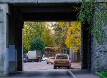 Paysage urbain de Vyborg, Russie Photographie stock