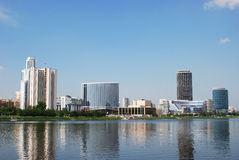 Paysage urbain de Yekaterinburg Photographie stock libre de droits
