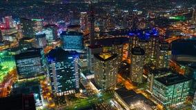 Paysage urbain de Yokohama la nuit, Japon banque de vidéos