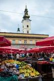 Paysage urbain de Zagreb en Croatie Photographie stock libre de droits