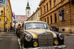 Paysage urbain de Zagreb en Croatie Photographie stock