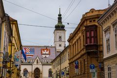 Paysage urbain de Zagreb en Croatie Photos stock