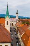 Paysage urbain de Zagreb en Croatie Images stock