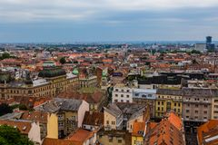 Paysage urbain de Zagreb en Croatie Photo stock