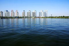 Paysage urbain de Zhengzhou Photos libres de droits