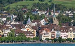 Paysage urbain de Zug Photos stock