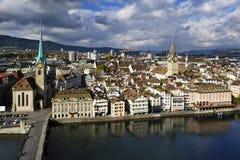 Paysage urbain de Zurich Photo libre de droits