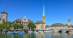 Paysage urbain de Zurich Image libre de droits