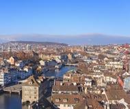 Paysage urbain de Zurich Photographie stock libre de droits