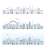 Paysage urbain des illustrations illustration stock