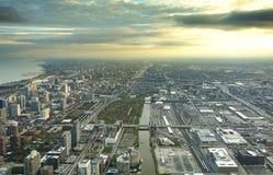 Paysage urbain du centre de Chicago images libres de droits