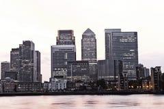 Paysage urbain du centre financier de secteur de Londres Photo libre de droits