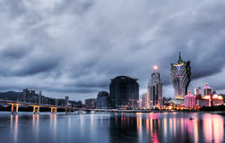 Paysage urbain du Macao images libres de droits