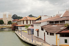 Paysage urbain du Malacca Photographie stock libre de droits