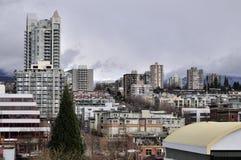 Paysage urbain du nord de Vancouver Images libres de droits