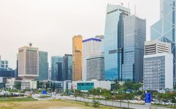 Paysage urbain en Hong Kong Image stock