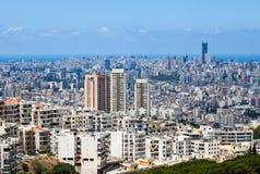 Paysage urbain et bâtiments de Beyrouth au Liban Images libres de droits