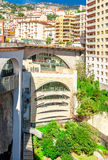 Paysage urbain et Gare De Monaco de Monte Carlo Photographie stock