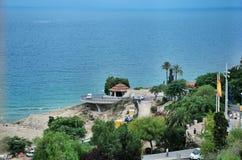 Paysage urbain et paysage marin de Tarragone de l'Espagne Photo stock