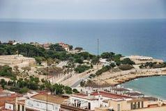 Paysage urbain et paysage marin de Tarragone de l'Espagne Photos stock
