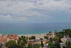 Paysage urbain et paysage marin de Tarragone de l'Espagne Photo libre de droits