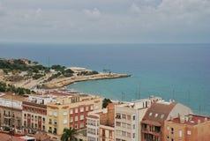Paysage urbain et paysage marin de Tarragone de l'Espagne Images libres de droits