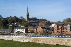 Paysage urbain, Exeter, Devon, Angleterre, Royaume-Uni image stock