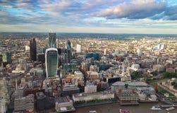 Paysage urbain financier de secteur de Londres Photo libre de droits