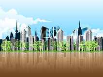 Paysage urbain futuriste Photo stock