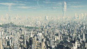 Paysage urbain futuriste