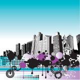 Paysage urbain grunge Photographie stock libre de droits