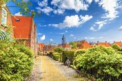 Paysage urbain Hindeloopen, Frise les Pays-Bas Photographie stock libre de droits