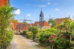 Paysage urbain Hindeloopen, Frise les Pays-Bas Image libre de droits