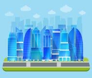 Paysage urbain industriel de bureau illustration de vecteur