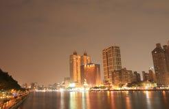 Paysage urbain Kaohsiung Taïwan de rivière d'amour Photographie stock