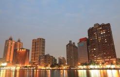 Paysage urbain Kaohsiung Taïwan de rivière d'amour Photo stock