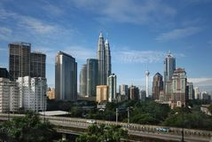 paysage urbain Kuala Lumpur Photographie stock