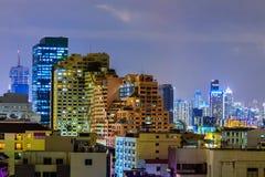 Paysage urbain la belle nuit Images libres de droits