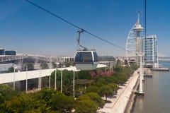 Paysage urbain moderne de vue de ville de Lisbonne Image stock