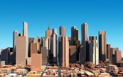 Paysage urbain moderne en jour. Fermez-vous vers le haut de la vue. Photographie stock libre de droits