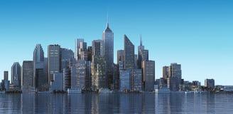 Paysage urbain moderne en journée. Fermez-vous vers le haut de la vue. Photos stock