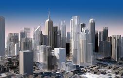 Paysage urbain moderne en journée. Fermez-vous vers le haut de la vue. Images libres de droits