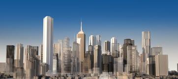 Paysage urbain moderne en journée. Fermez-vous vers le haut de la vue. Photos libres de droits
