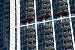 Paysage urbain moderne et vieux de Chicago du centre de bâtiments image libre de droits