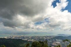 Paysage urbain nuageux Photos libres de droits