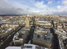 Paysage urbain nuageux de wheather Photographie stock libre de droits