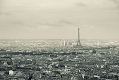 Paysage urbain, Paris Photo stock