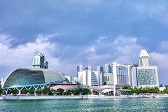 Paysage urbain près de Marina Bay à Singapour photo libre de droits