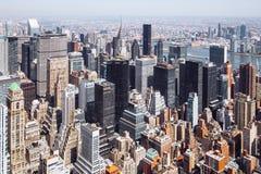 Paysage urbain pris de l'Empire State Building photos stock