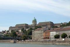 Paysage urbain royal de Budapest de château Images stock